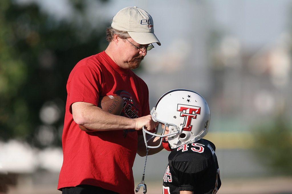 football, youth league, coach